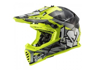 LS2 MX437 Fast Evo Crusher Black H-V Yellow
