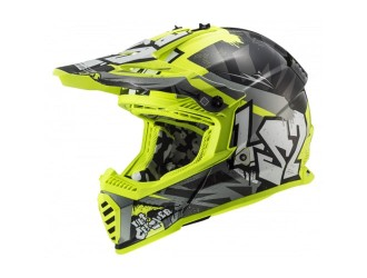 LS2 MX437 Fast Evo Mini Crusher Black Yellow